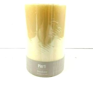 Unscented Ivory Pillar Candle 4 x 6 in. 100hr
